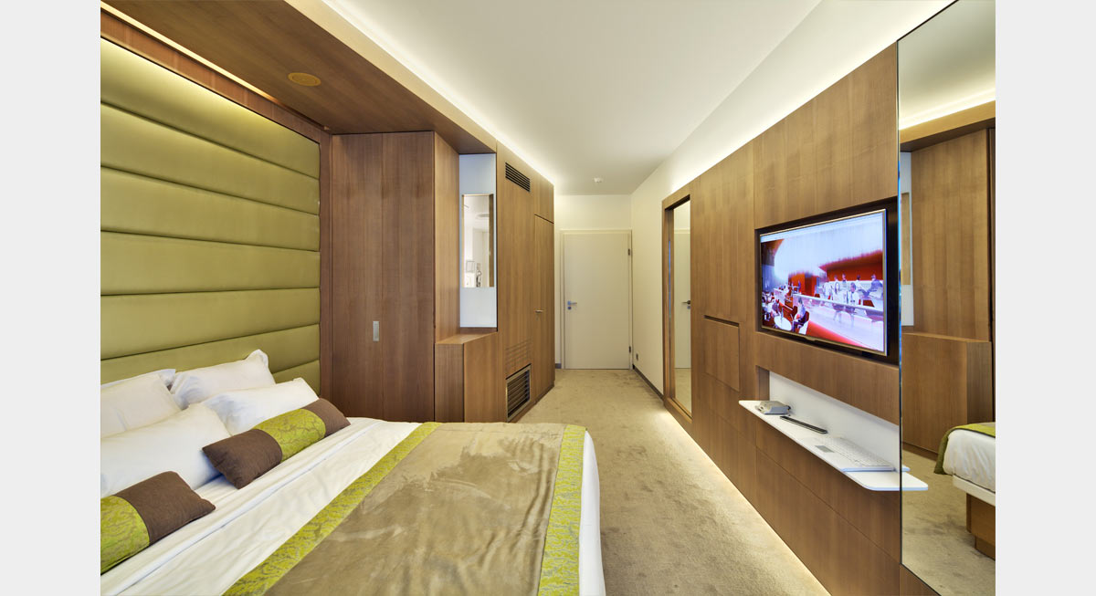 Plc architectures mock up room paris etoile for Hotel paris porte maillot